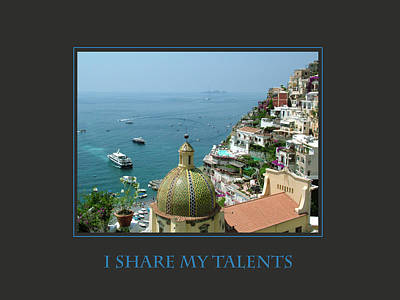 I Share My Talents Print by Donna Corless