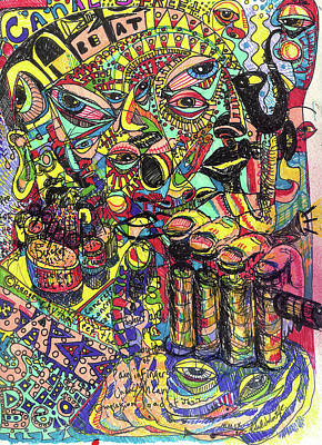 Trumpet Mixed Media - I Want To Be In That Number by Robert Wolverton Jr