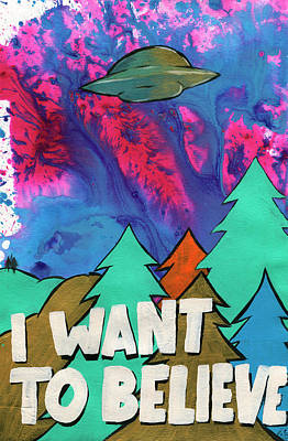I Want To Believe Print by Jake Johnson
