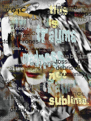 Bipolar Digital Art - Mistaken Identity-i Will Be Silent No More by Melissa D Johnston