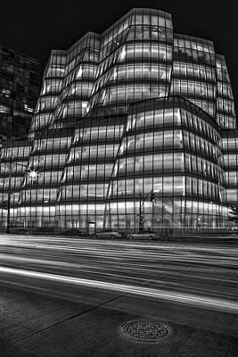 Iac Building Bw Print by Susan Candelario