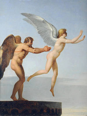 Icarus Painting - Icarus And Daedalus by Charles Paul Landon