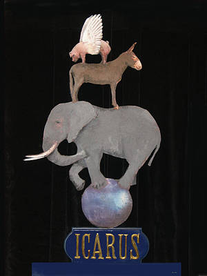 Donkey Mixed Media - Icarus by Steve Karol
