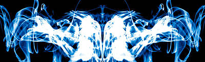 Abstract Photograph - Ice Blue by Sumit Mehndiratta