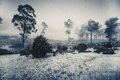 Ice Cold Winter Background Print by Jorgo Photography - Wall Art Gallery