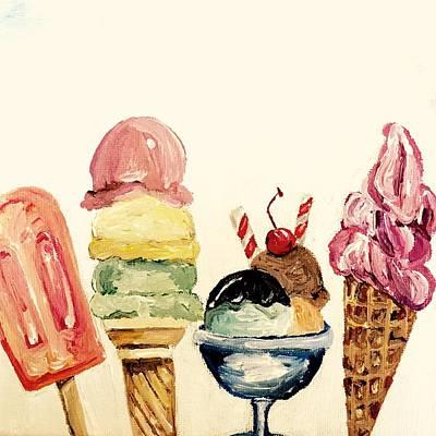 Pai Painting - Ice Cream by Esther Pai