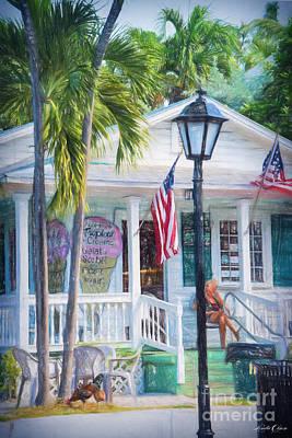 Linda Olsen Digital Art - Ice Cream In Key West by Linda Olsen