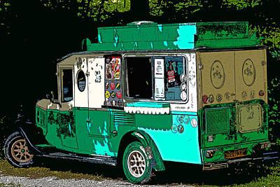 Ice Cream Van Print by Martin Newman