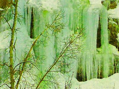 Photograph - Ice Falls Dixie National Forest Utah by Deborah Moen