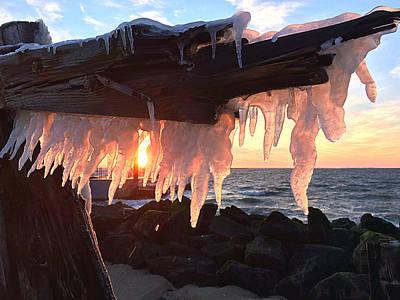 Ice Fangs Print by Kristopher Schoenleber