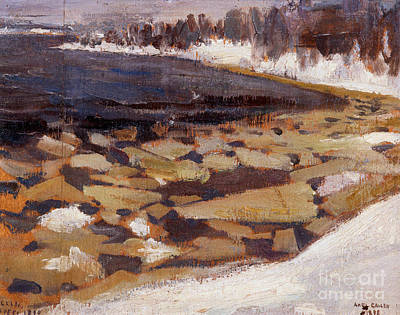 Trees Painting - Ice Floes At Kalelas Shore by Celestial Images