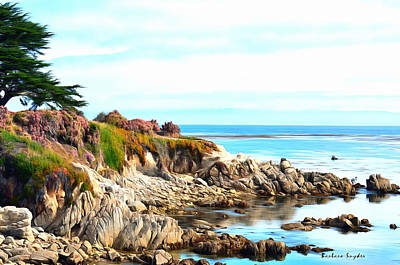 Ice Plant Along The Monterey Shore Print by Barbara Snyder