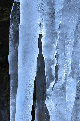 Icicles Photograph - Ice Sculpture by Mike  Dawson