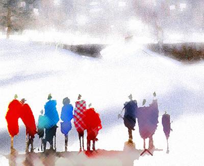 Ice Space Print by Anil Nene