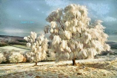 Megalith Painting - Ice Three by Leonardo Digenio