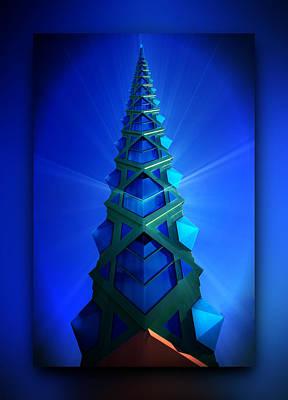 Digital Art - Ice Tower by Dan Stone
