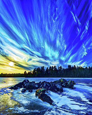 Manipulation Photograph - Icebound 3 by Bill Caldwell -        ABeautifulSky Photography