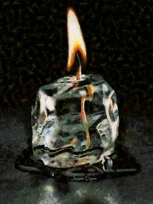 Sign Digital Art - Iced Candle - Da by Leonardo Digenio