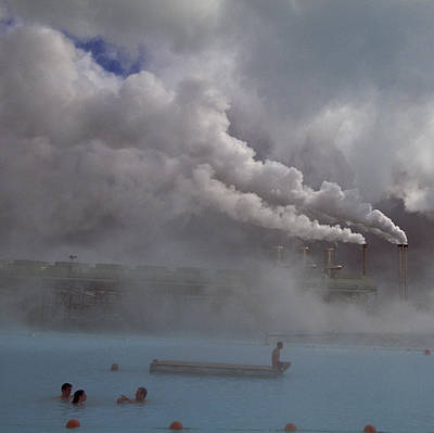 Iceland, Blue Lagoon, Grindavik, People Print by Keenpress