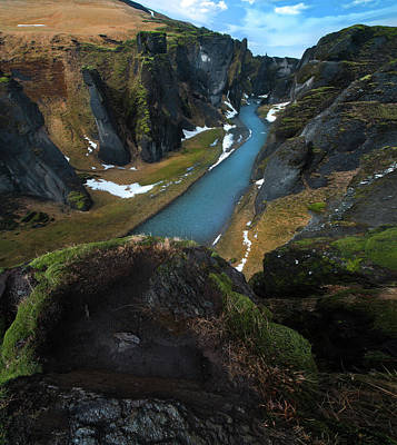 Waterfall Photograph - Iceland Gorge by Larry Marshall