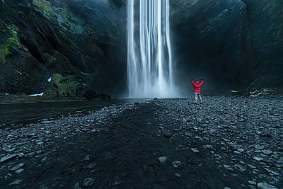 Stream Photograph - Iceland Waterfall by Larry Marshall