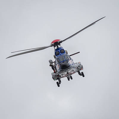 Helicopter Photograph - Icelandic Coast Guard On A Training by Panoramic Images