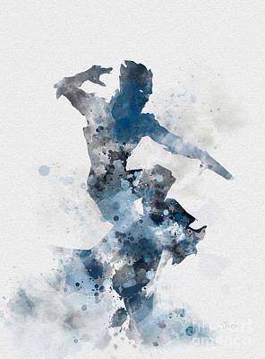 Drake Mixed Media - Iceman by Rebecca Jenkins