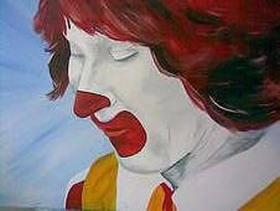 Ronald Mcdonald Painting - Icon by Hal Bailey