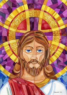 Eternal Life Painting - iconic Jesus by Mark Jennings