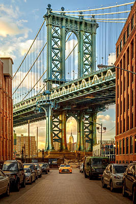 Iconic Manhattan Print by Az Jackson