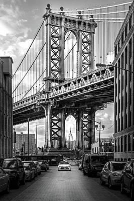 Iconic Manhattan Bw Print by Az Jackson
