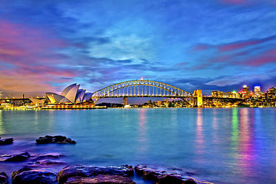 Icons Of Sydney Harbour Print by Az Jackson