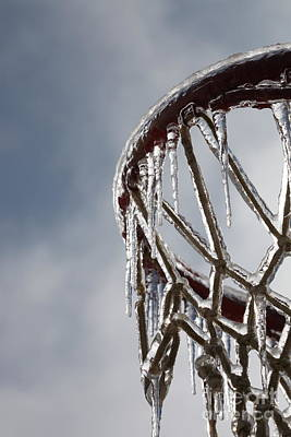Basketball Photograph - Icy Hoops by Nadine Rippelmeyer