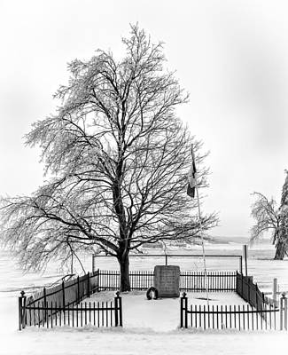 Icy Memories Bw Print by Steve Harrington