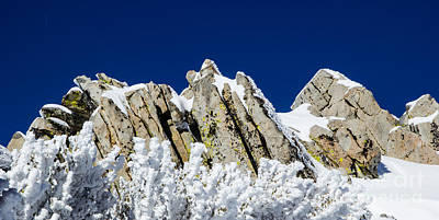 Icy Rock Ridge Print by Juan Romagosa