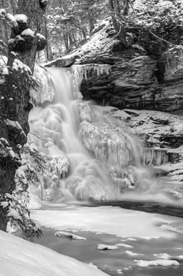 Icy Sheldon Reynolds Falls Print by Lori Deiter