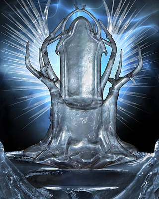 Throne Room Digital Art - Icy Throne by Suzanne Amberson