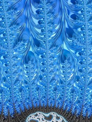 Winter Digital Art - Icy Winter Blue Fractal Art by Matthias Hauser