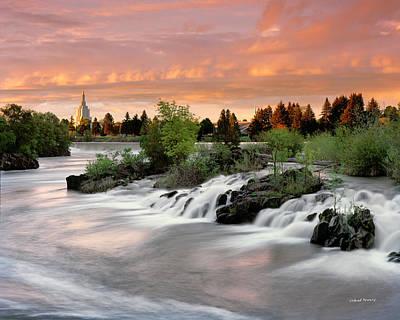 Idaho Photograph - Idaho Falls by Leland D Howard