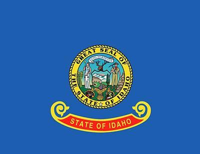 Pride Painting - Idaho State Flag by American School