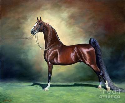 Horse Art Painting - Ideal Proportions by Jeanne Newton Schoborg