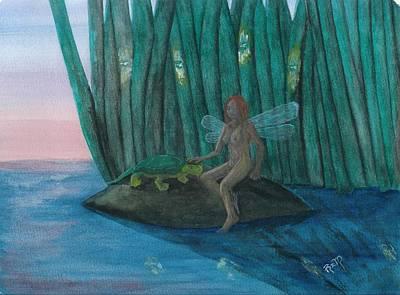 Idly Watching Fireflies...no. Two Print by Robert Meszaros
