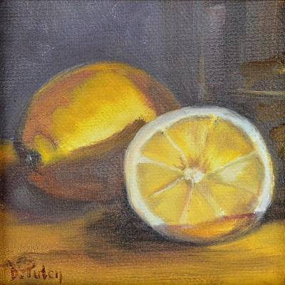 Lemons Painting - If Life Gives You Lemons by Donna Tuten
