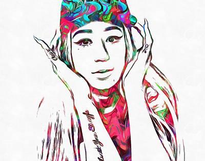 Rap Painting - Iggy Azalea  by Dan Sproul