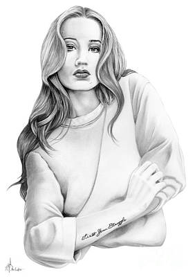 Singer Drawing - Iggy Azalea by Murphy Elliott