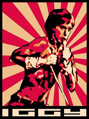 Rock N Roll Icons Digital Art - Iggy by Lance Vaughn