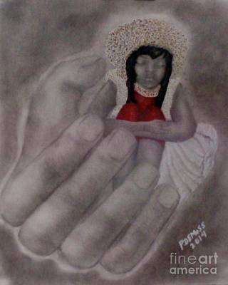 Hands Of Love Drawing - In God's Hands by Celestial Inspirations