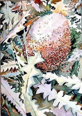 Peach Drawing - Ikabani by Mindy Newman