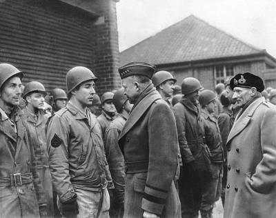 Dwight Photograph - Ike Checks Invasion Forces by Underwood Archives