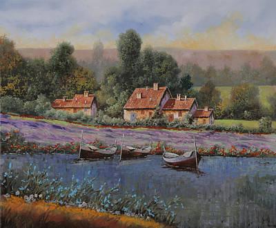 Poppy Field Painting - Il Borgo Tra Le Lavande by Guido Borelli